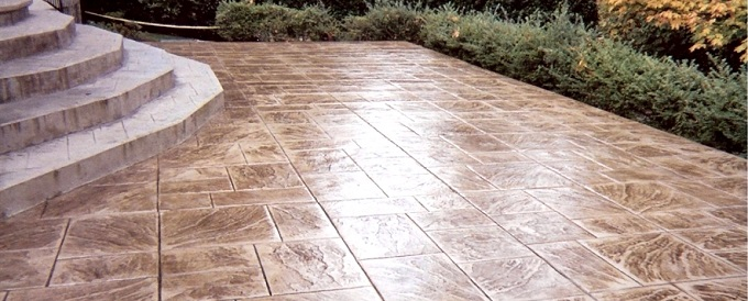 Glaze and Seal Decorative stamped stained concrete sealer sealing