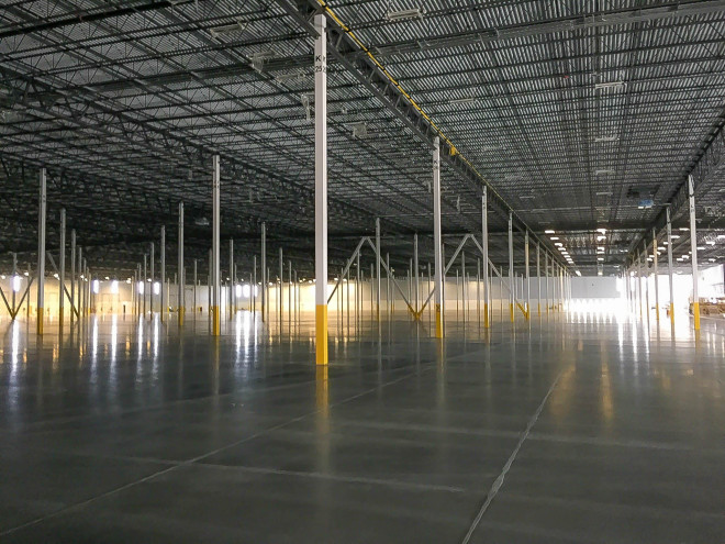 Amazon Warehouse specchem concrete floor